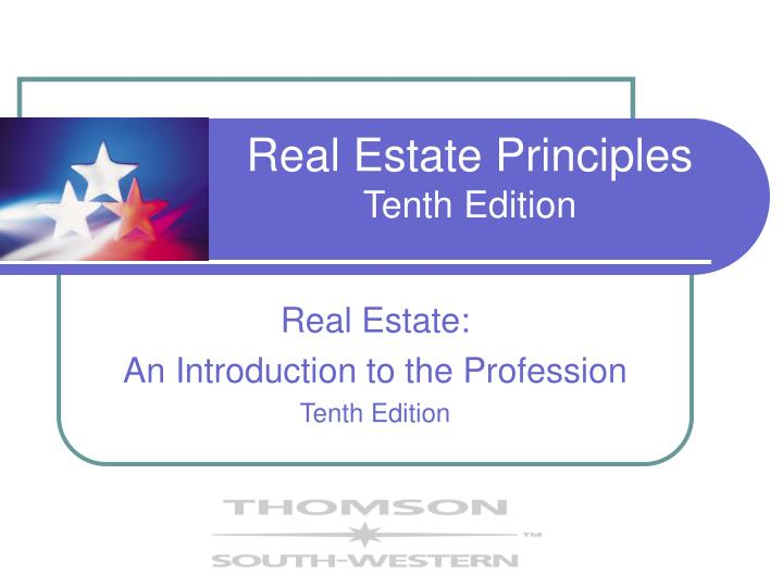 Real estate principles tenth edition