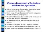 wyoming department of agriculture and board of agriculture