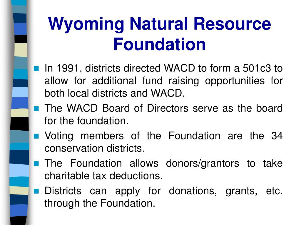 In 1991, districts directed WACD to form a 501c3 to allow for additional fund raising opportunities for both local districts and WACD.