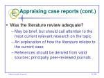 appraising case reports cont53