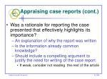 appraising case reports cont54