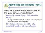 appraising case reports cont57
