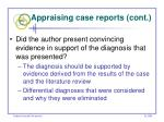 appraising case reports cont58