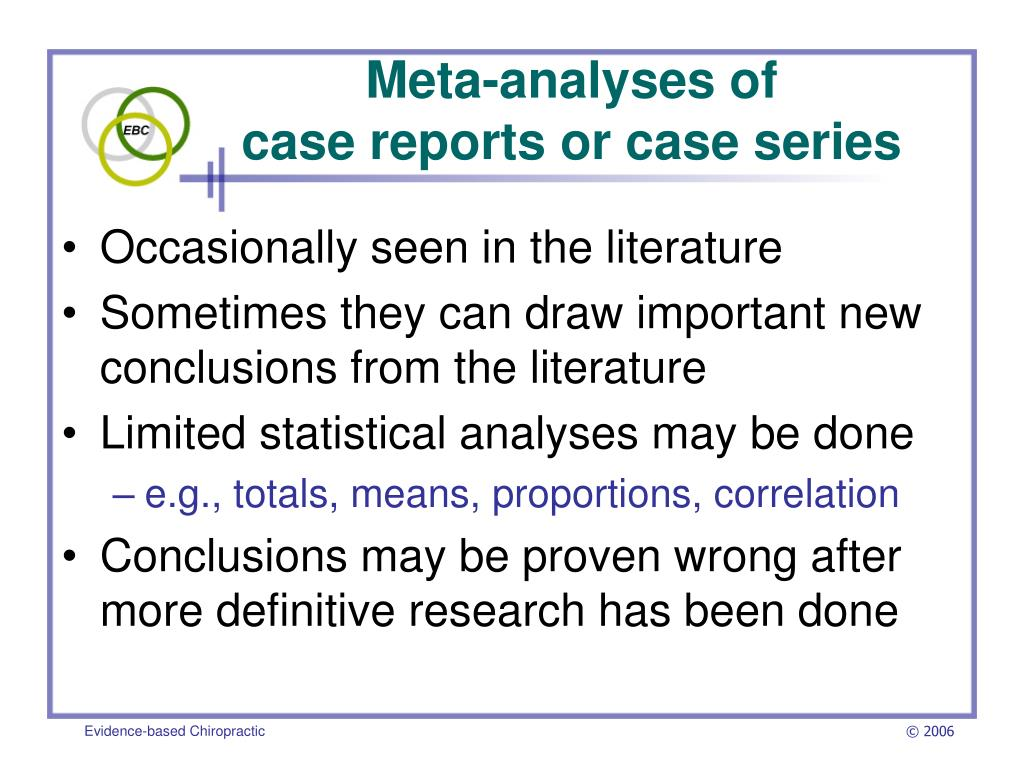 Meta-analyses of