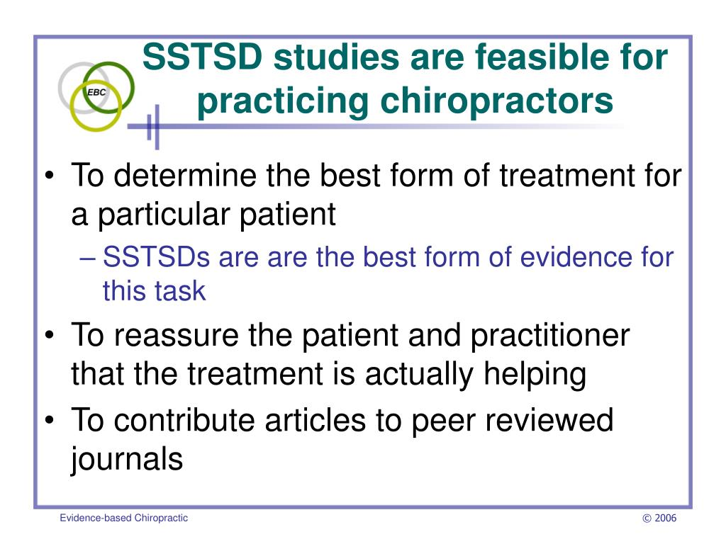 SSTSD studies are feasible for practicing chiropractors