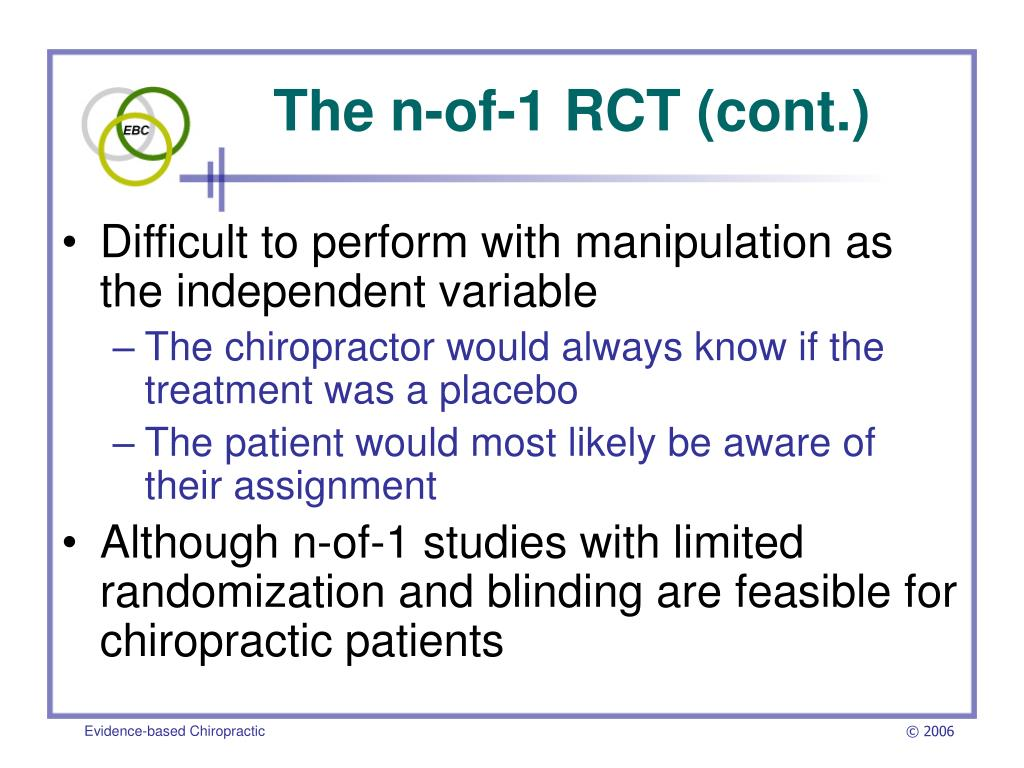 The n-of-1 RCT (cont.)