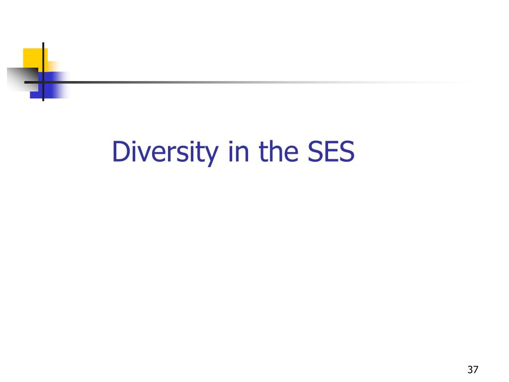 Diversity in the SES