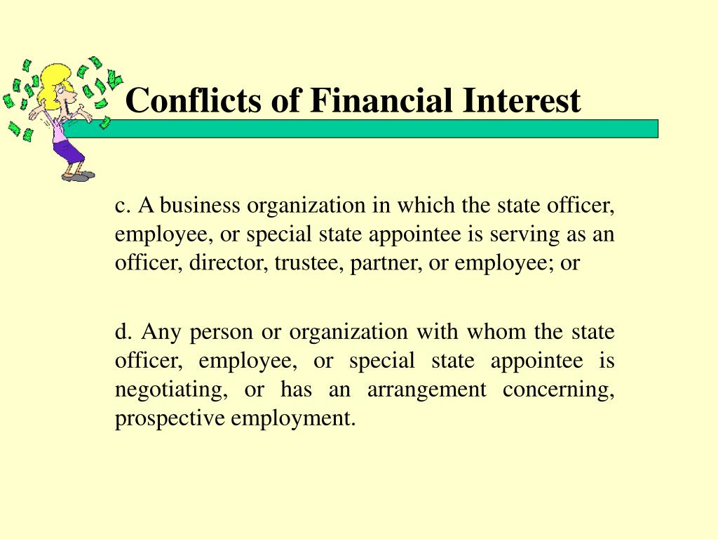 Conflicts of Financial Interest