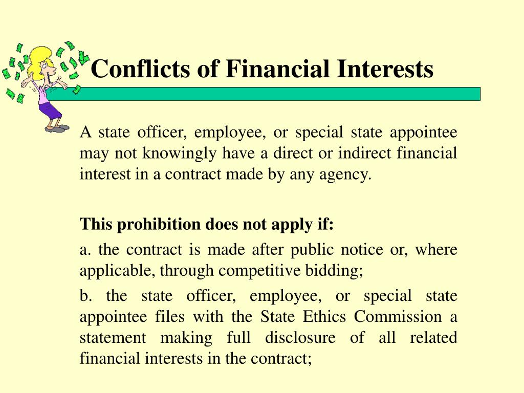 Conflicts of Financial Interests