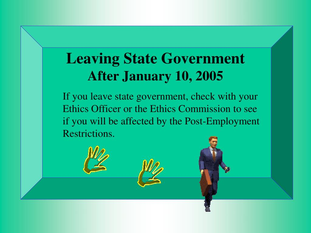 Leaving State Government