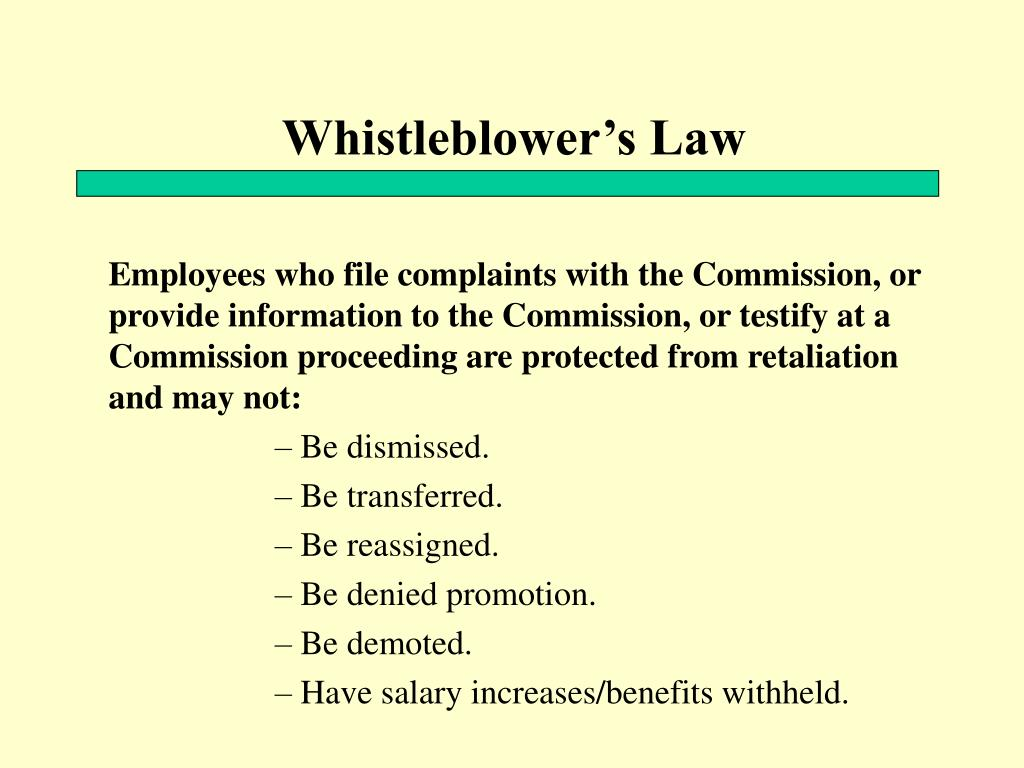 Whistleblower's Law