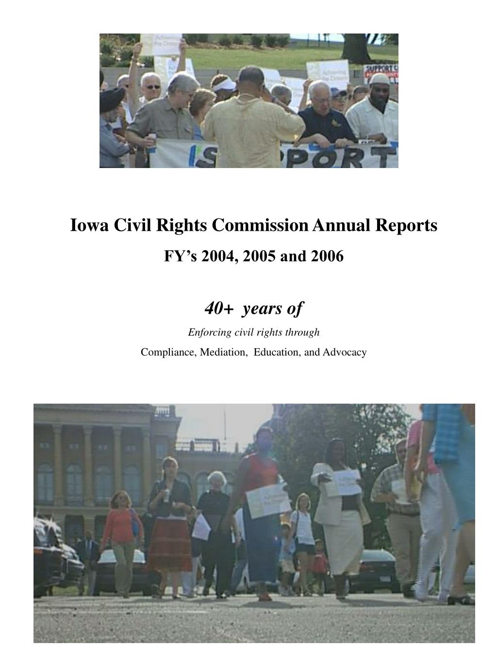 Iowa Civil Rights Commission Annual Reports