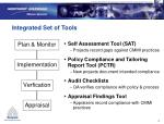 integrated set of tools