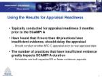 using the results for appraisal readiness