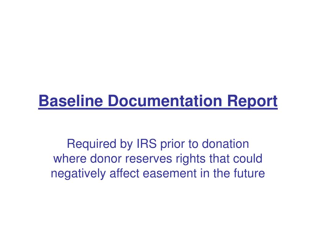 Baseline Documentation Report