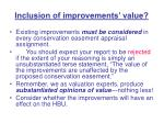 inclusion of improvements value