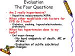 evaluation the four questions