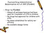 food and drug administration modernization act of 1997 fdama