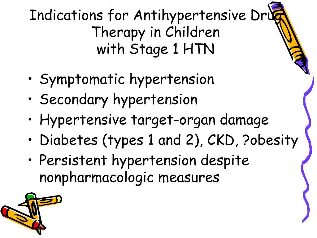 Indications for Antihypertensive Drug