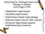 indications for antihypertensive drug therapy in children with stage 1 htn