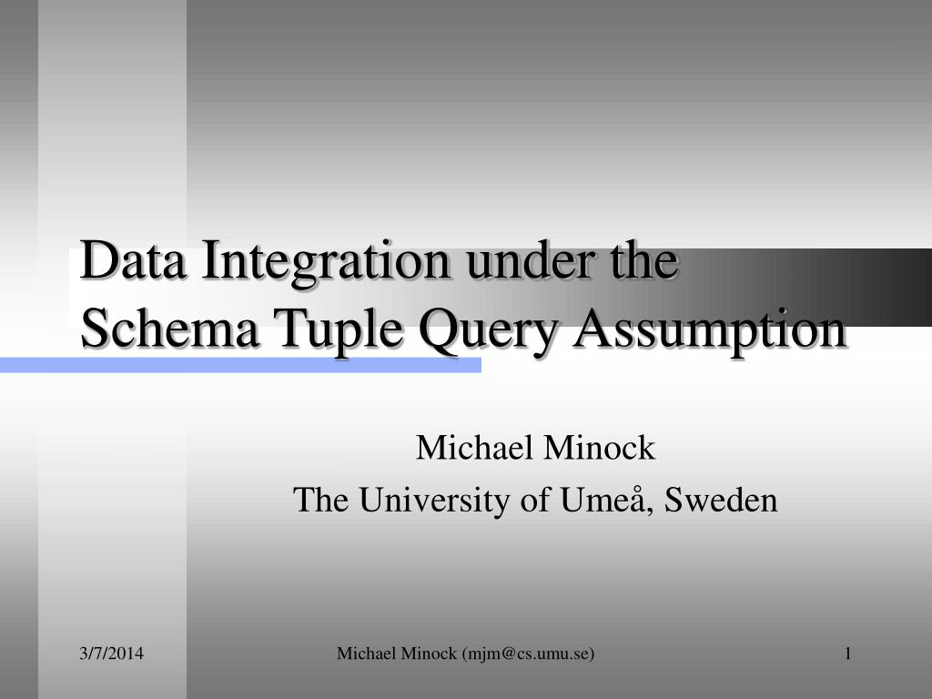 Data Integration under the Schema Tuple Query Assumption