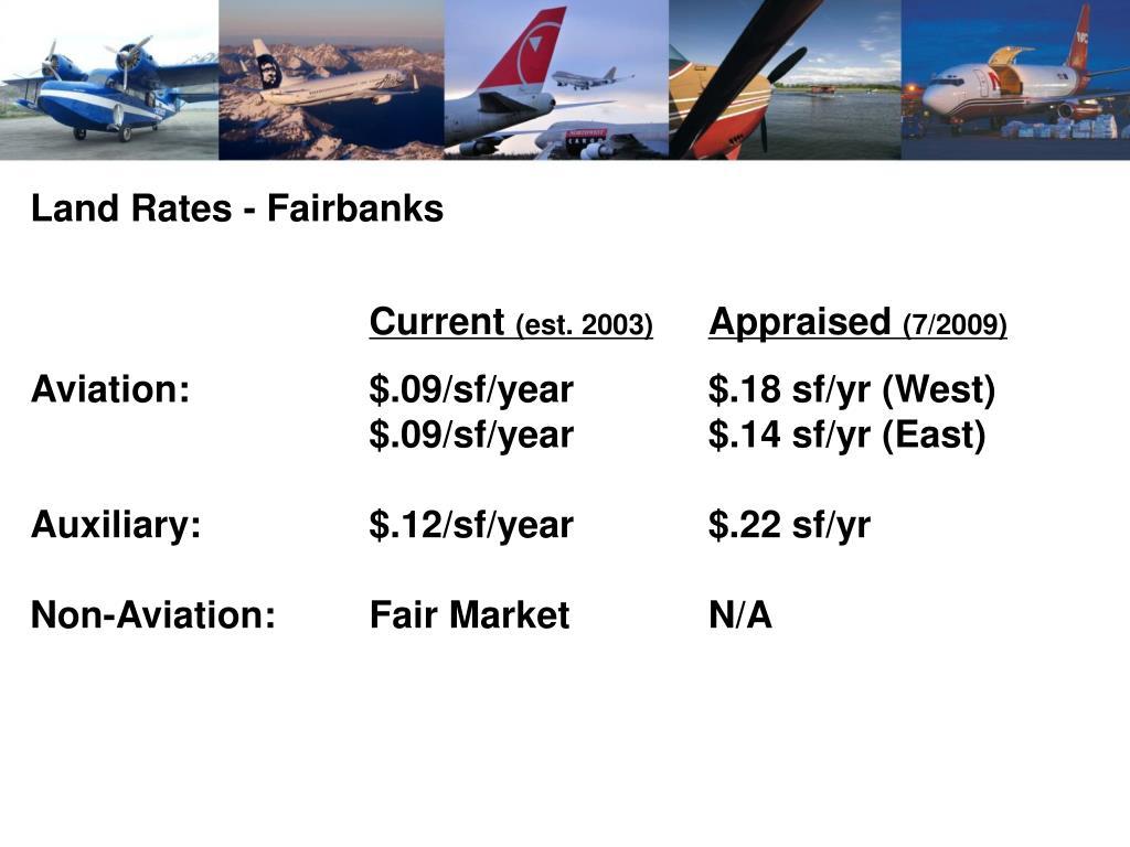 Land Rates - Fairbanks