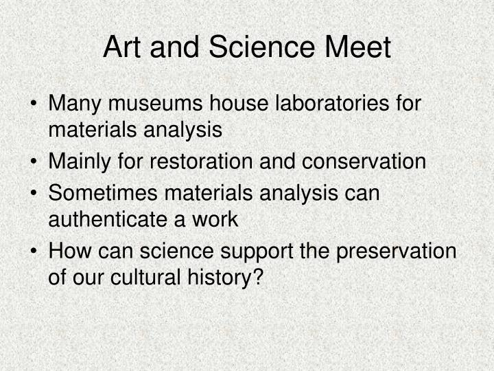 Art and science meet