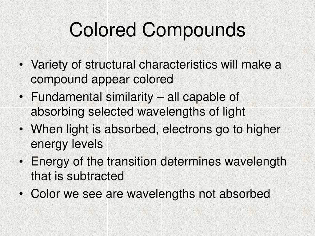 Colored Compounds