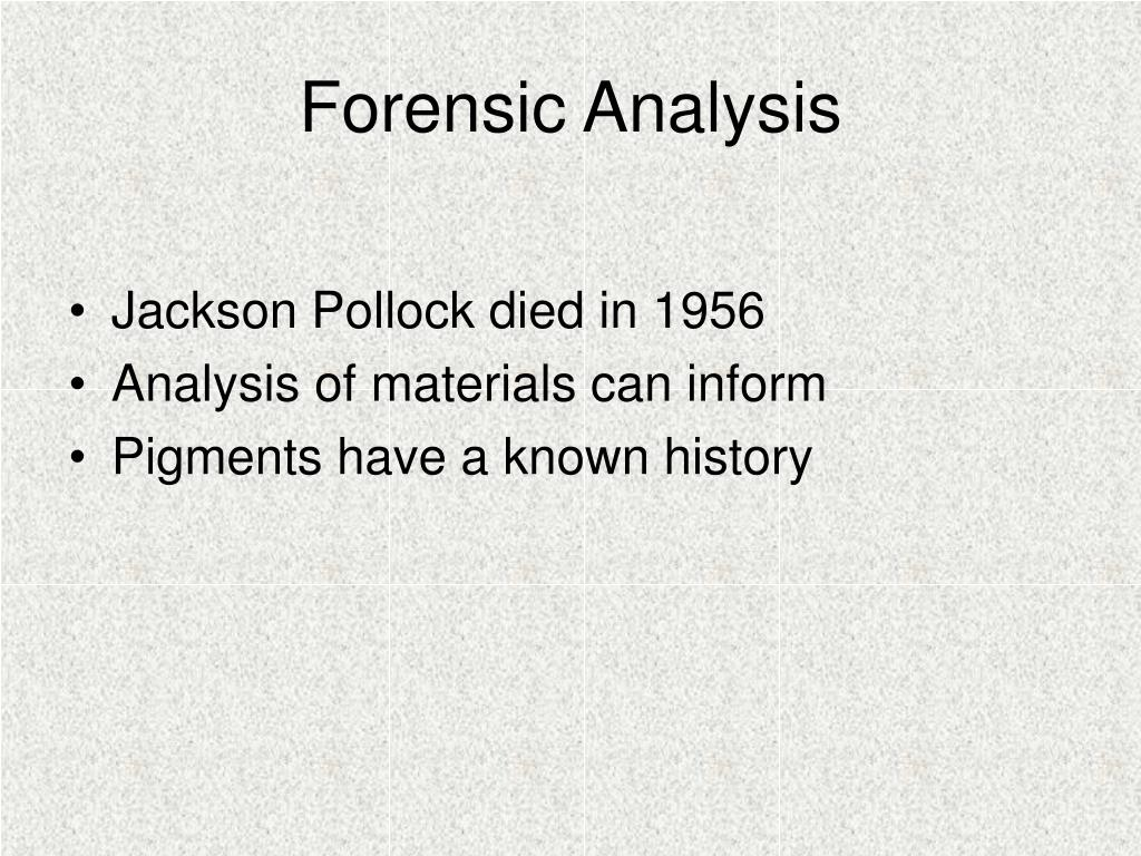 Forensic Analysis