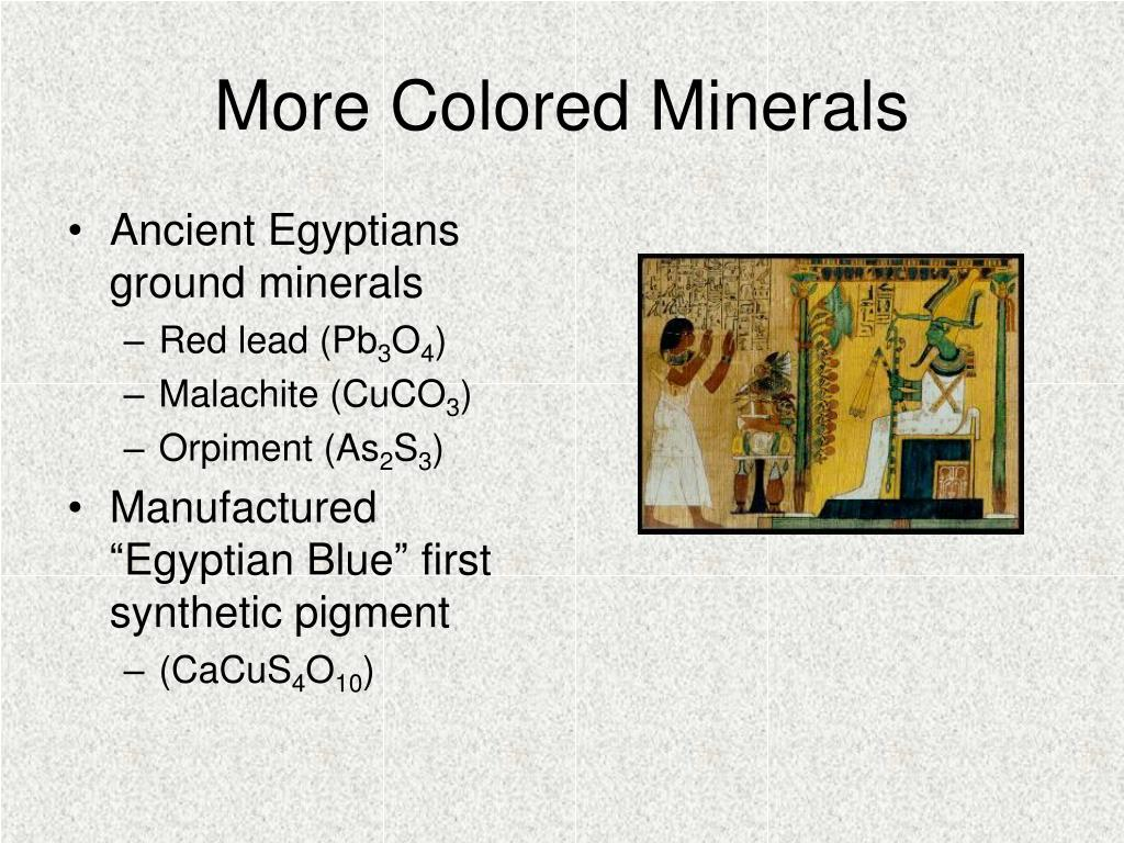 More Colored Minerals
