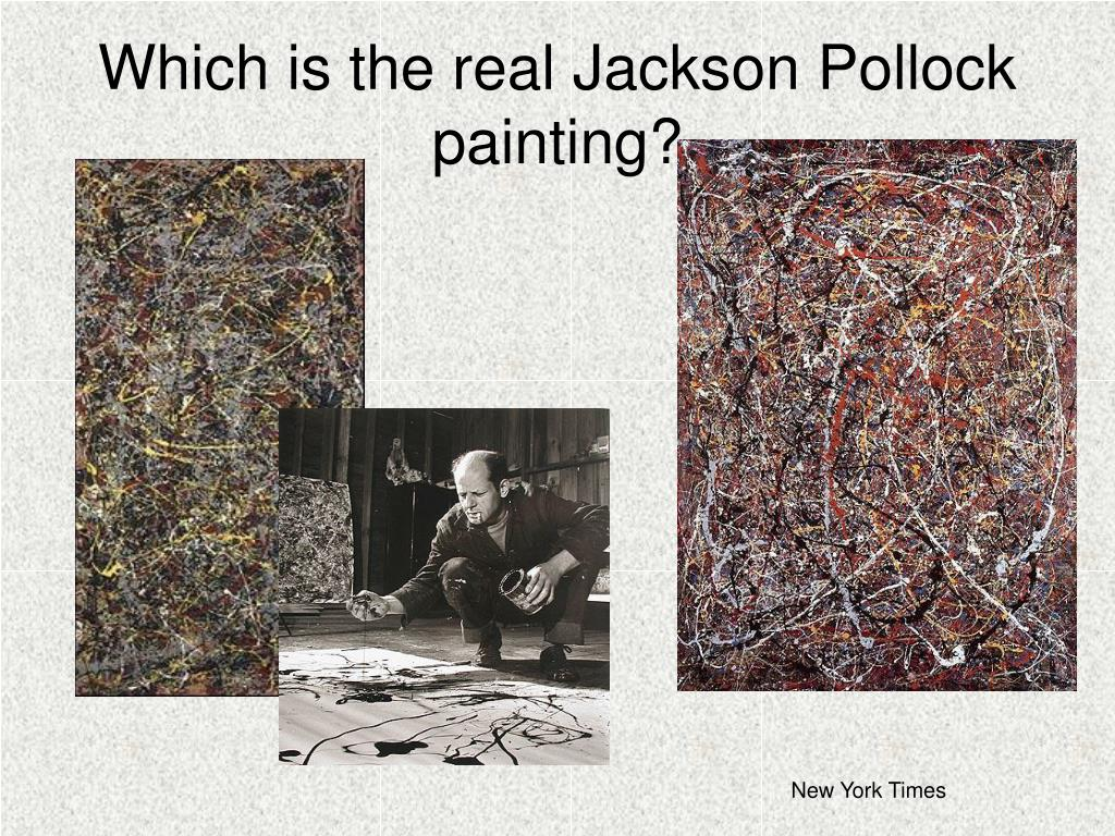 Which is the real Jackson Pollock painting?