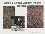 which is the real jackson pollock painting
