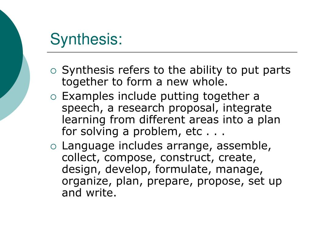 Synthesis: