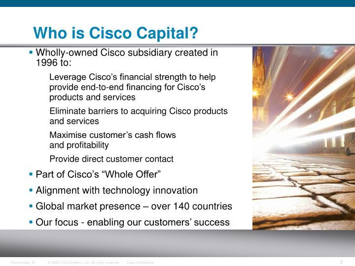 Who is Cisco Capital?