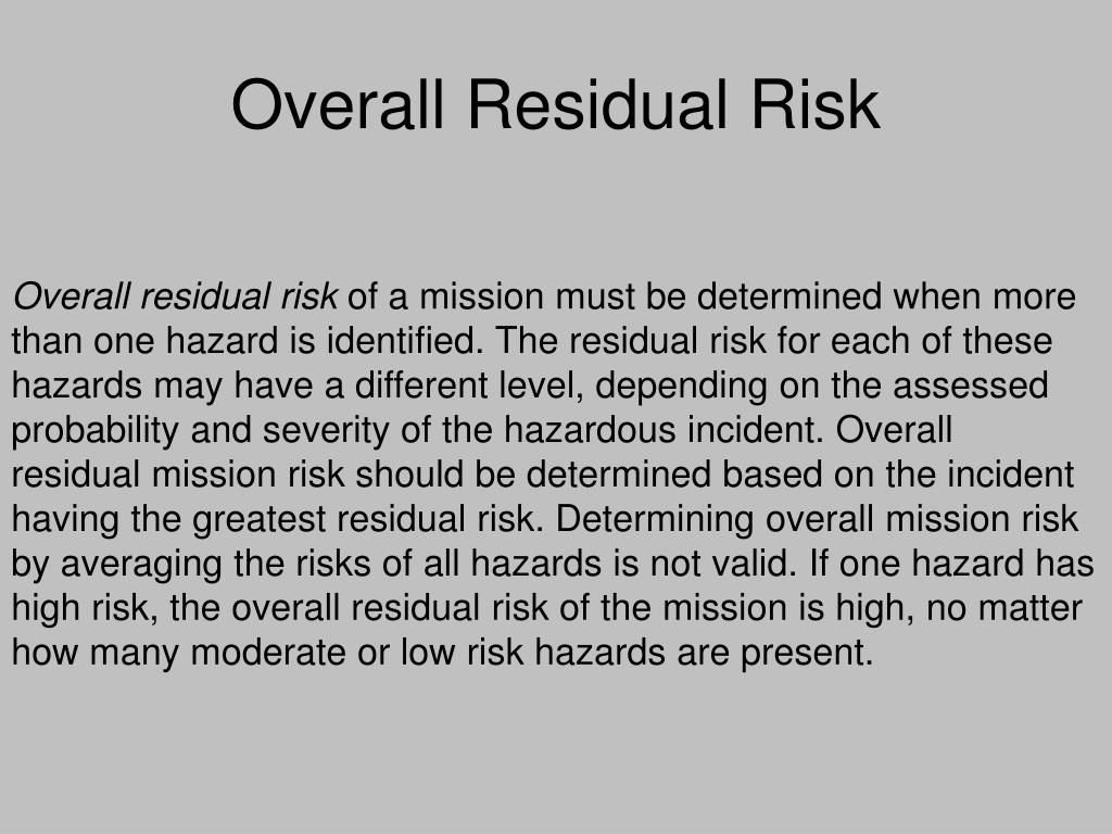 Overall Residual Risk