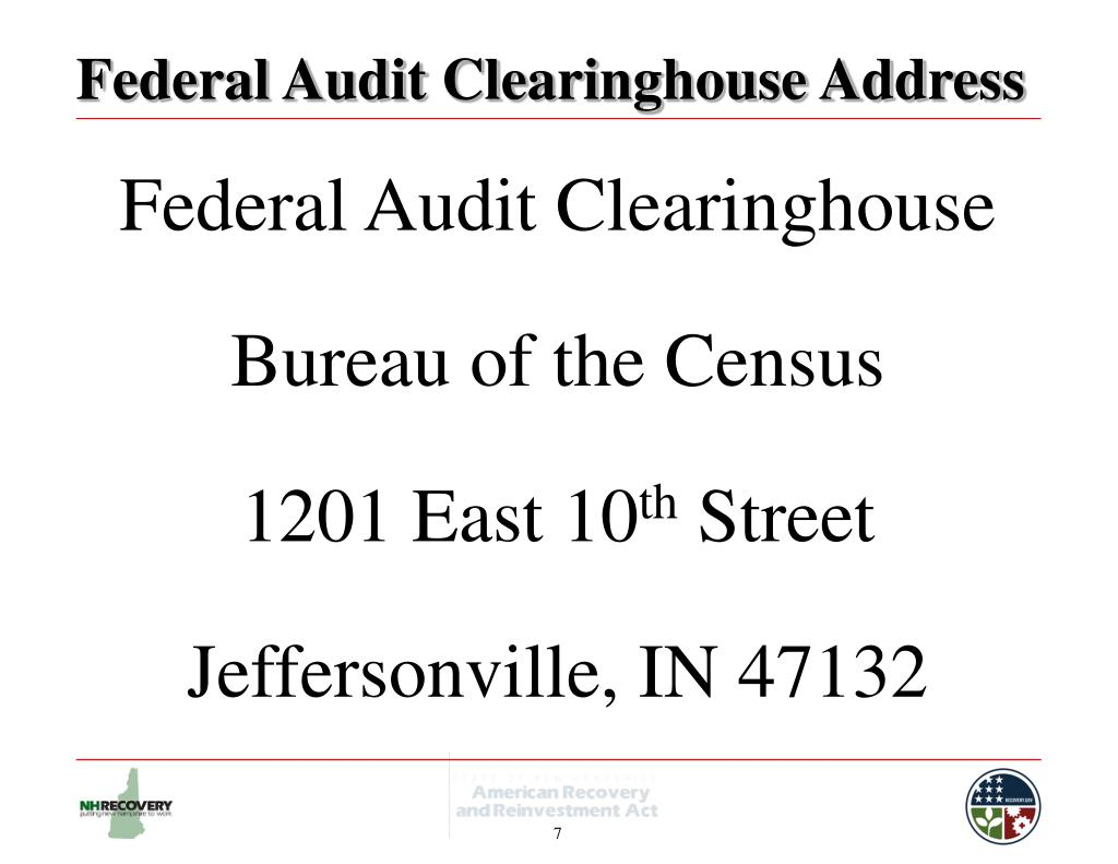 Federal Audit Clearinghouse Address