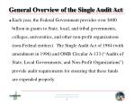 general overview of the single audit act