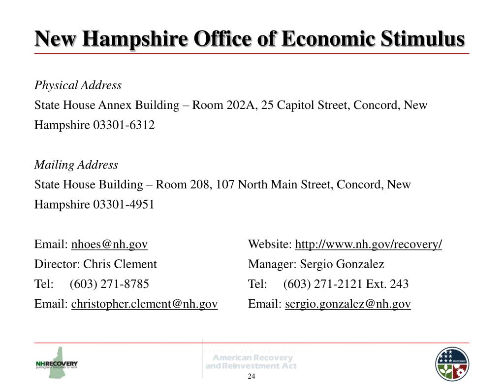 New Hampshire Office of Economic Stimulus