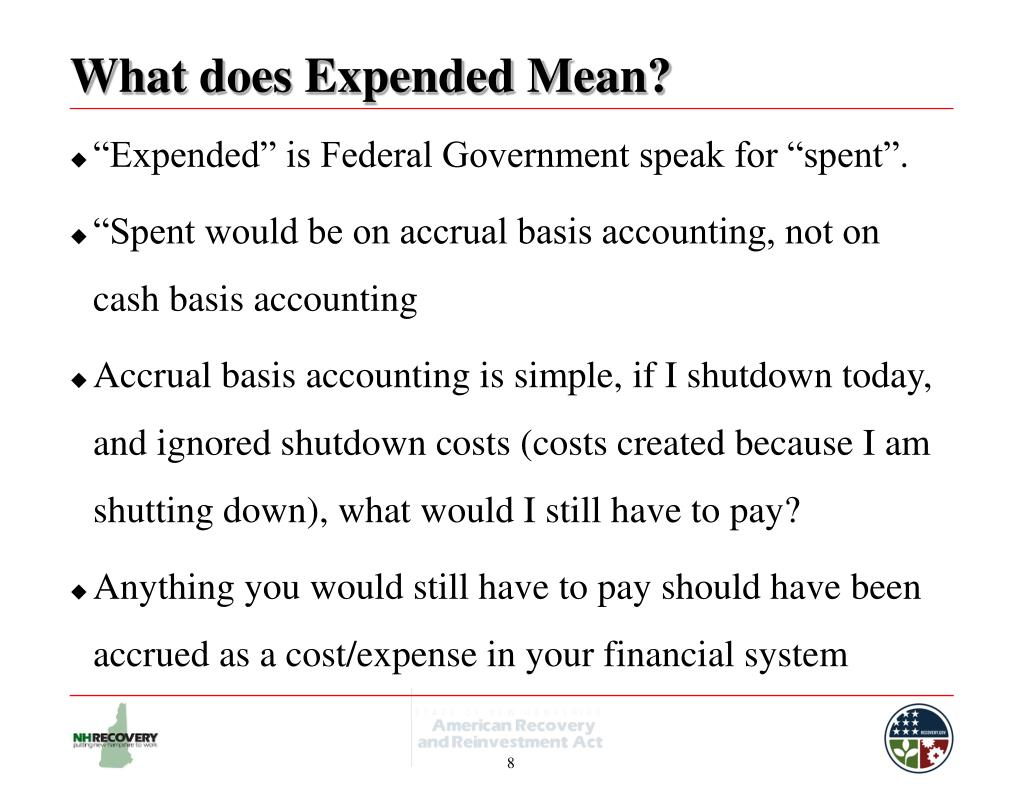 What does Expended Mean?