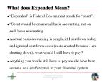 what does expended mean
