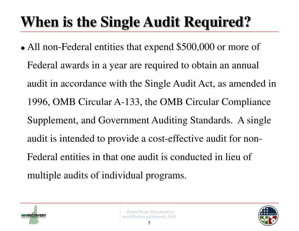 When is the Single Audit Required?