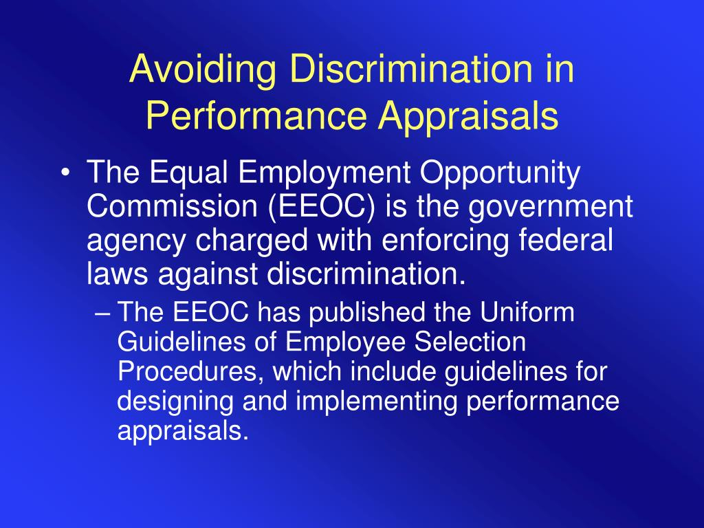 Avoiding Discrimination in Performance Appraisals