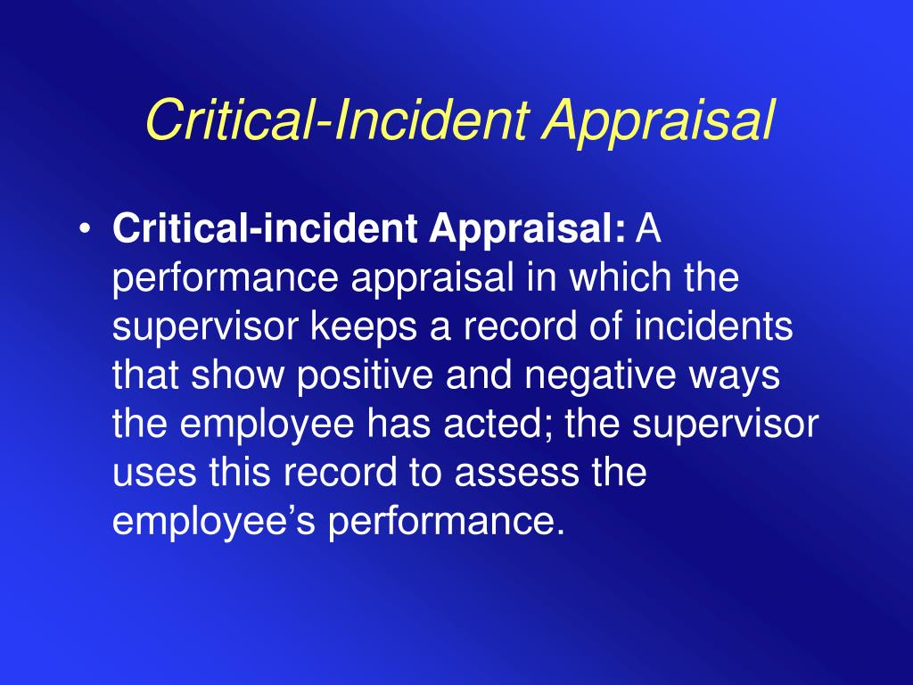 Critical-Incident Appraisal