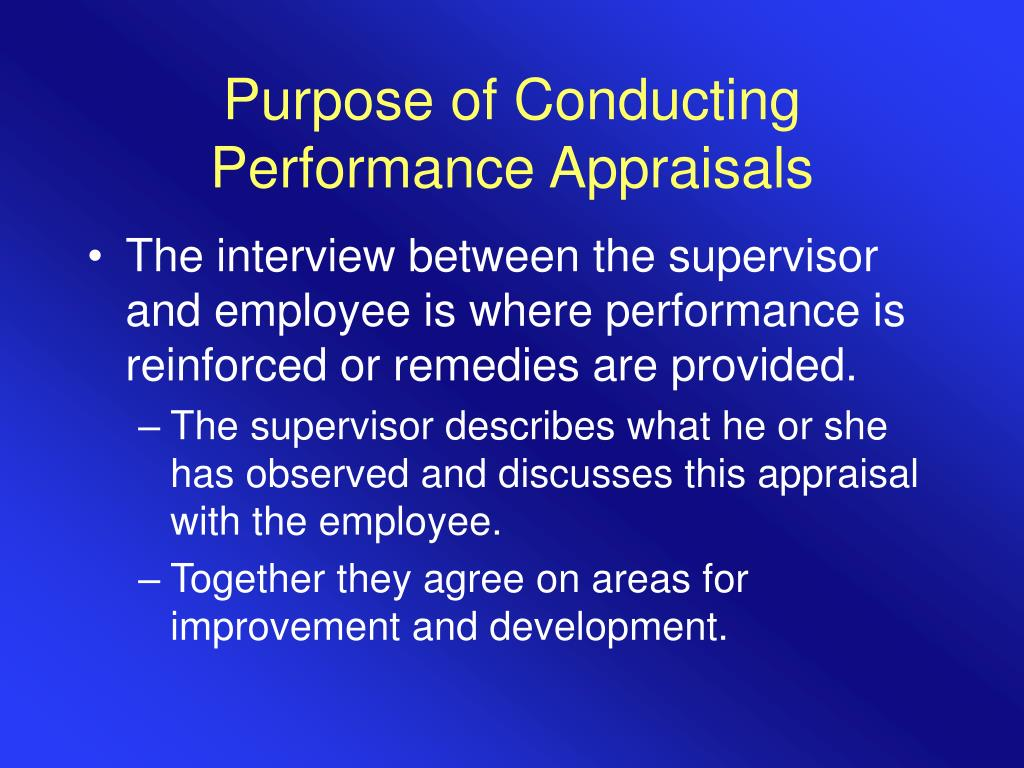 Purpose of Conducting Performance Appraisals
