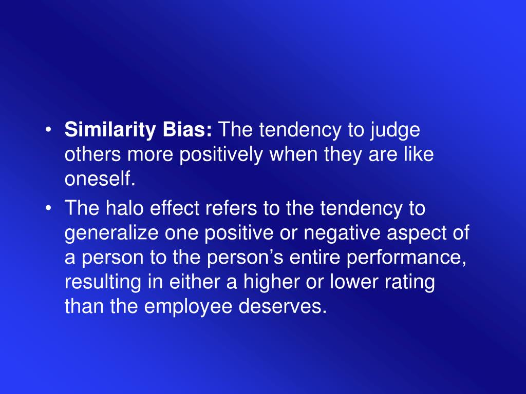 Similarity Bias: