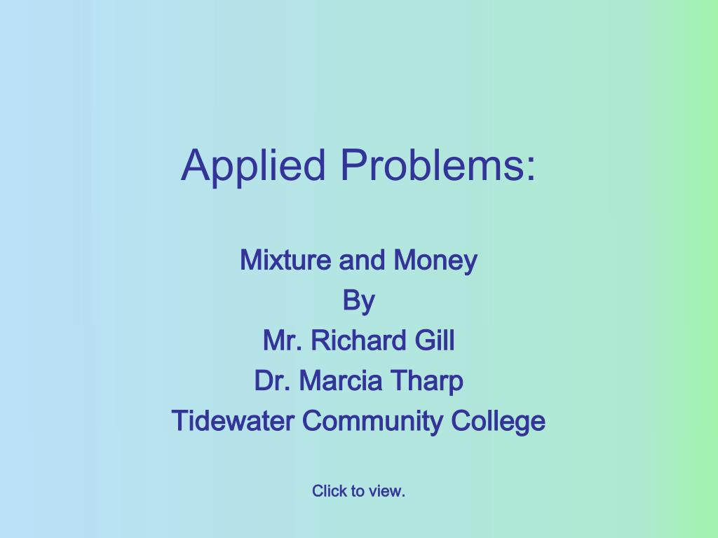 Applied Problems: