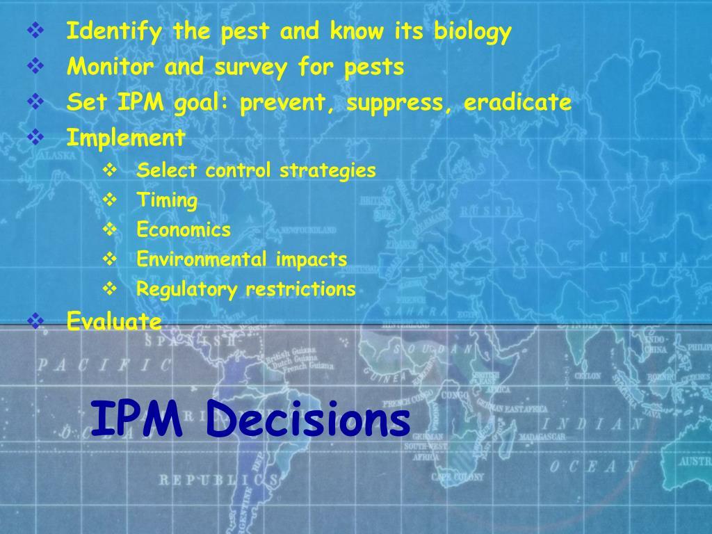 IPM Decisions