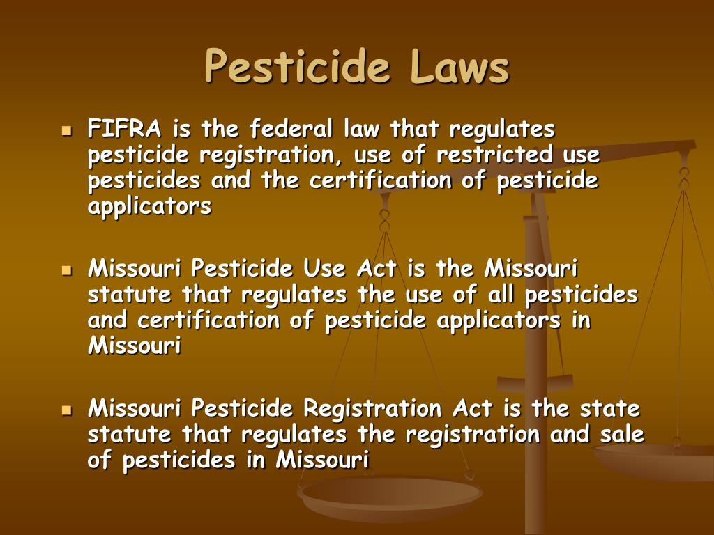 Pesticide Laws