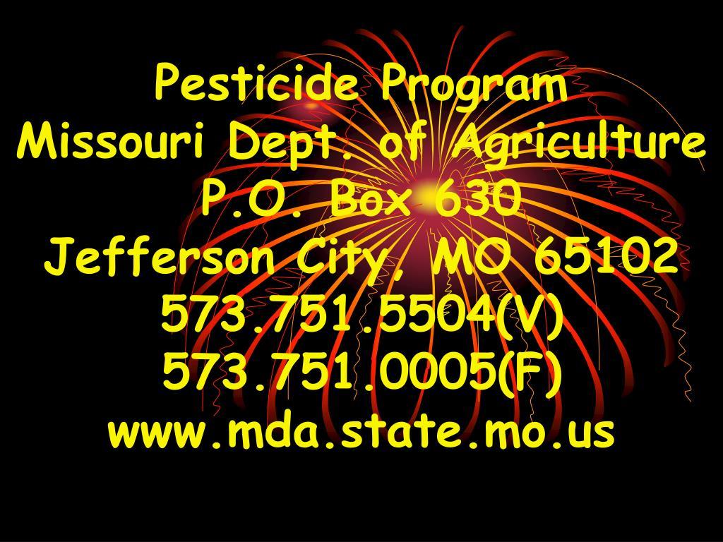Pesticide Program