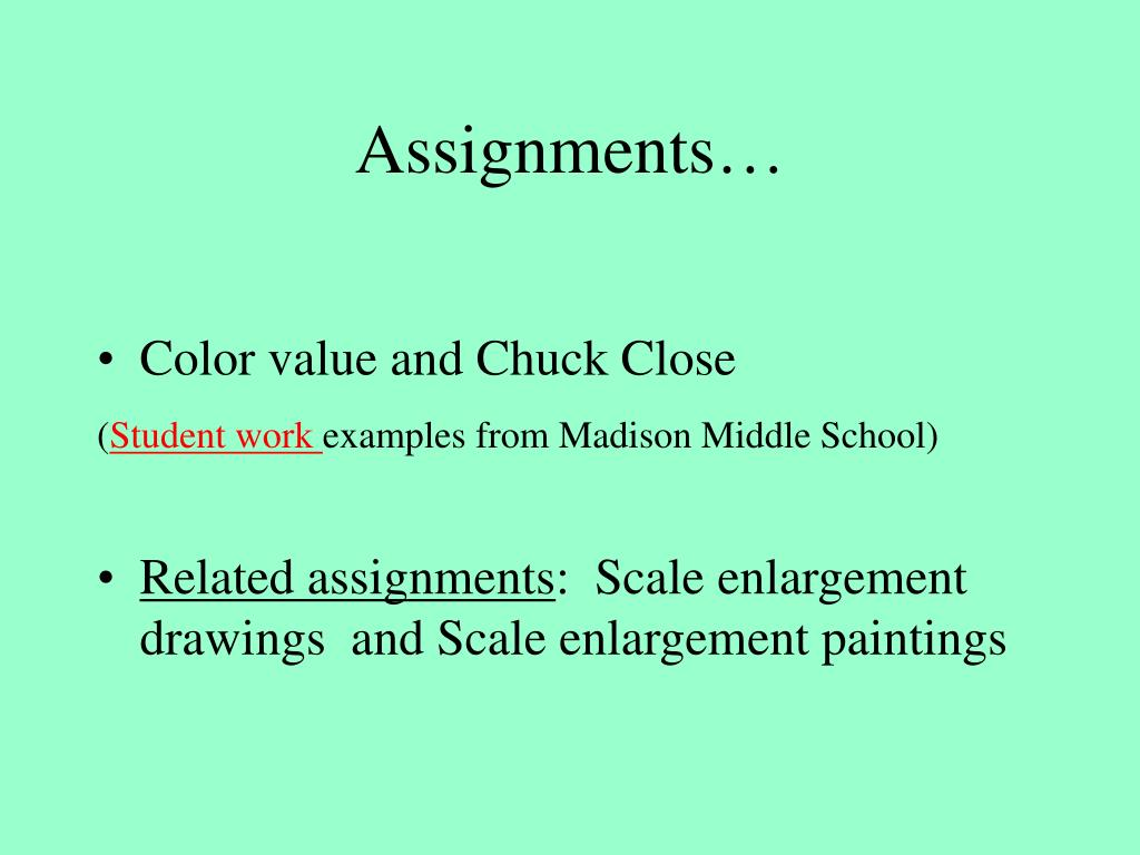 Assignments…